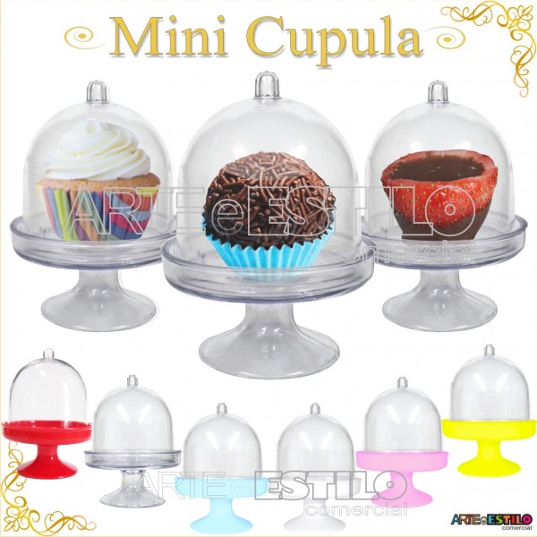 100 Mini Cupula de Acrilico / Redoma de Acrilico