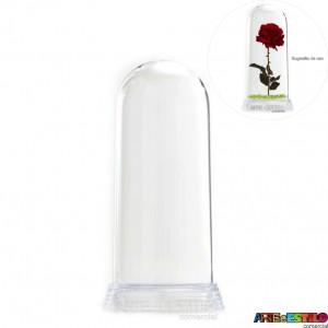 Redoma Cúpula de Acrílico com Base Transparente  Modelo M 15 cm - Só R$5,49 - Emb. com 05 unid.