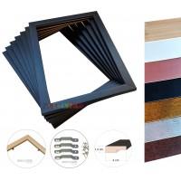 01 Moldura 30x40 Pronta para Telas Quadros Pinturas Artes Placas impressas - Só o aro