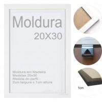 10 Molduras Prontas - 20x30 Cor Branca