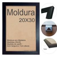 10 Molduras Prontas - 20x30 Cor Preta