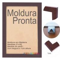 10 Molduras Prontas A4 - 21x30 Cor Marrom Tabaco
