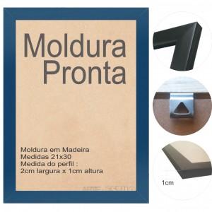 10 Molduras Prontas A4 - 21x30 Cor Azul Escuro