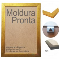 10 Molduras Prontas A4 - 21x30 Cor Dourada
