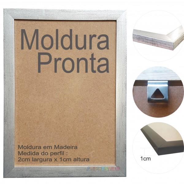 10 Molduras Prontas A4 - 21x30 Cor Prateada