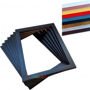 06 Molduras 40x60 Prontas para Telas Quadros Pinturas Artes Placas impressas - Só o aro