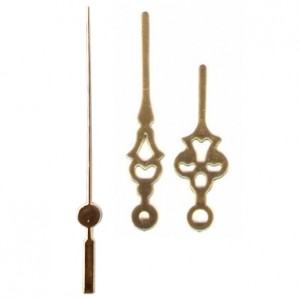 10 jogos de ponteiros Colonial Médio (5,5 cm) - Dourado - Prata