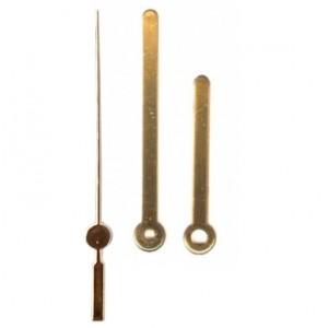 10 jogos de ponteiros Palito Médio (5,5 cm) - Dourado - Prata