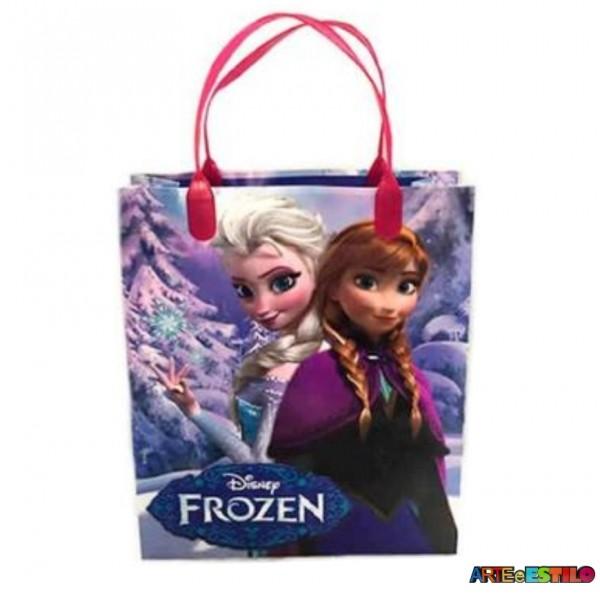 12  Sacolas de Plástico da Frozen Licenciada 21 X 25 X 8 cm