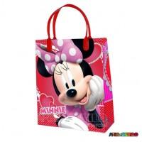 12  Sacolas de Plástico da Minnie 21 X 25 X 8 cm