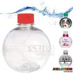 10 Garrafinhas Bolinha para água, suco, personalizar 300 ml c/ tampa - Transparente