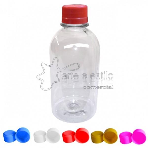 10 Frascos, Garrafinhas de Plastico Pet 250ml c/ tampa