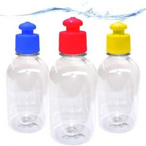 10 Squeezes 300 ml c/ tampa Push Pull - 17 Cores sortidas a escolher