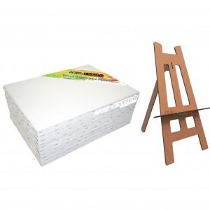 Kit de Pintura Infantil c/ 06Telas 20x30 + 01 Mini Cavalete Grátis