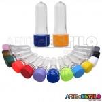 20 Mini Tubetes com tampa, preformas, tubo de ensaio 08cm só R$0,37 cada