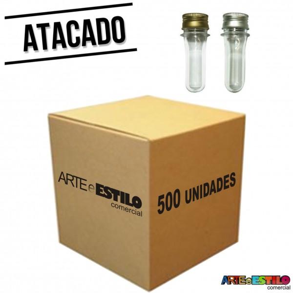 500 Mini Tubetes com tampa de Metal 08cm só R$0,56 cada