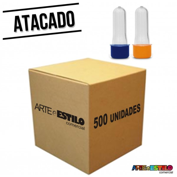 500 Mini Tubetes com tampa, preformas, tubo de ensaio 08cm - Só R$0,30 cada
