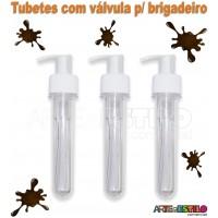 10 Tubetes c/ Valvula p/ Brigadeiro a Jato 13cm