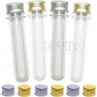 PROMOÇÃO - 50 Tubetes tampa Metal, tubo de ensaio 13cm R$0,68 cada