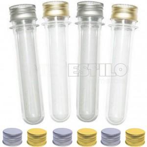 20 Tubetes tampa Metal, tubo de ensaio 13cm R$0,70 cada
